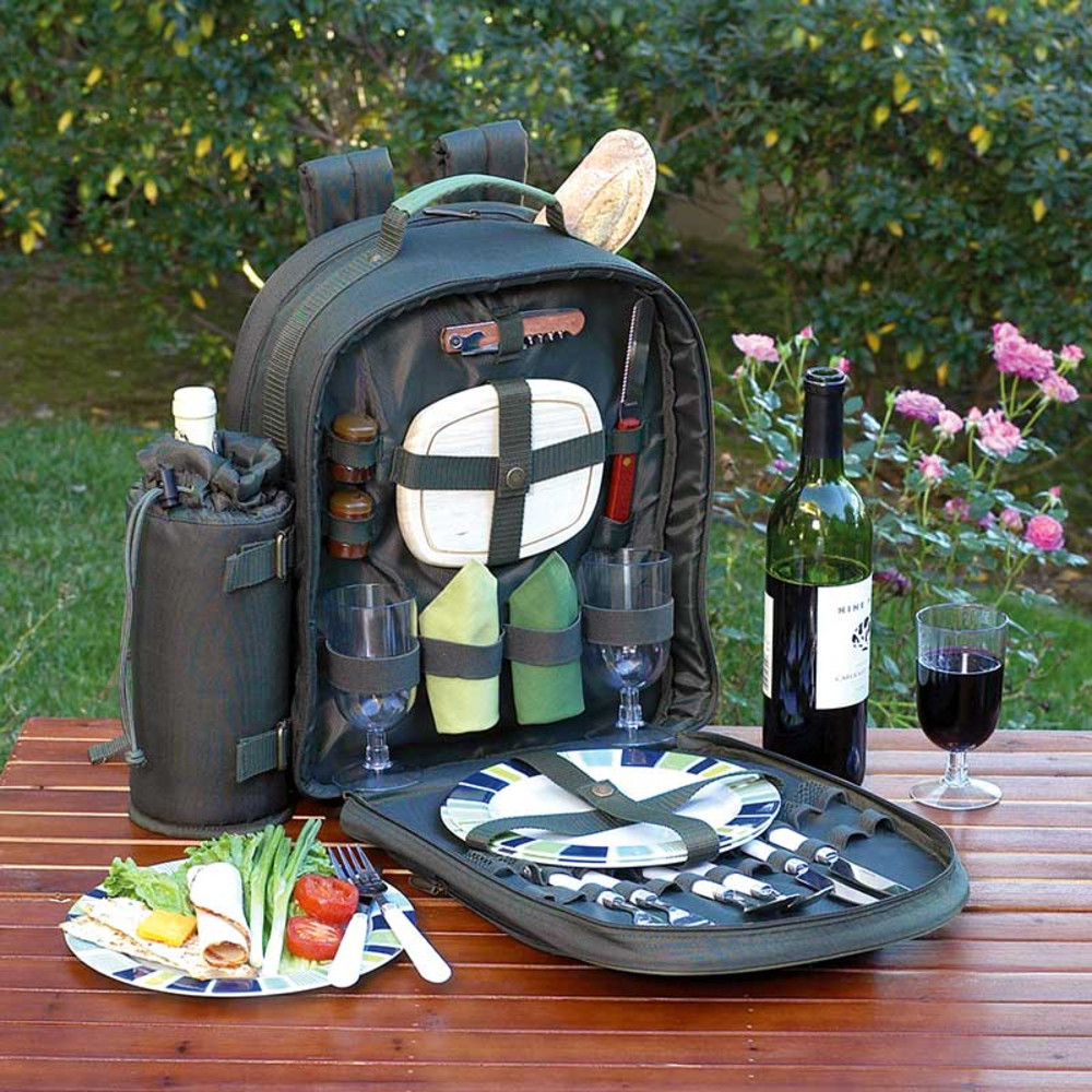 Picnic Basket Backpack Two : Eco picnic backpack for the wine kit