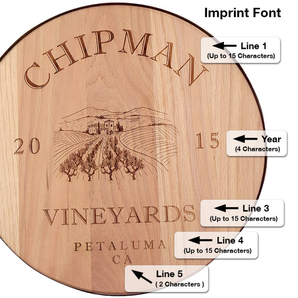 Personalized 18 Wine Barrel Lazy Susan The Wine Kit