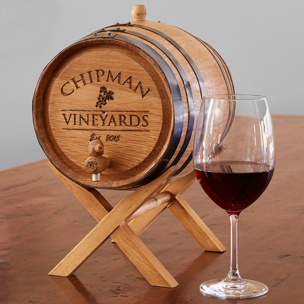 Personalized Oak Wine Barrel The Wine Kit